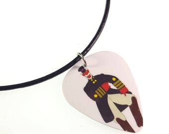 Les Beatles Yellow Submarine/vieux FRED Album Cover Art véritable Guitar Pick collier