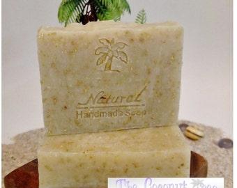Basic Oatmeal Soap / Natural Soap / Antibacterial Soap / 5oz bar soap / Vegan Soap / face soap / body soap / bar soap