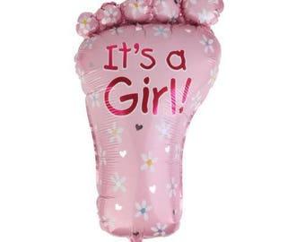 ball foot baptism baby shower girl pink