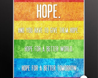 Print: Hope for a better tomorrow — Harvey Milk, LGBT, youth, hope, speech, gay