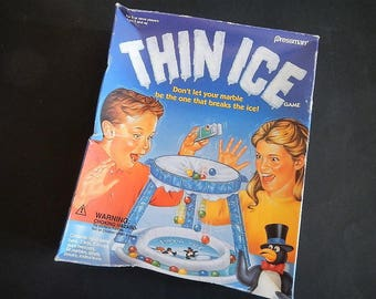 Vintage Thin Ice Game - Pressman Toy Corp- 1990- children's game, #9610, no reading, game night, family, fun, 2+ players, ages 5 & up, igloo