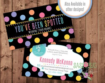 Youve been spotted cards with 5 dollar off coupon dots youve been spotted cards with optional 5 dollar off coupon digital printable colourmoves