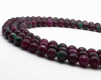 1Full Strand 8mm Jade Faceted Round Beads,Wholesale Gemstone For Jewelry Making