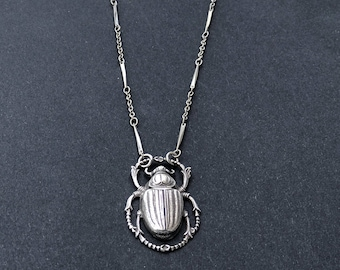 Scarab pendant etsy mothers day gift silver scarab pendant ancient egypt necklace bohemian necklace scarab aloadofball Gallery