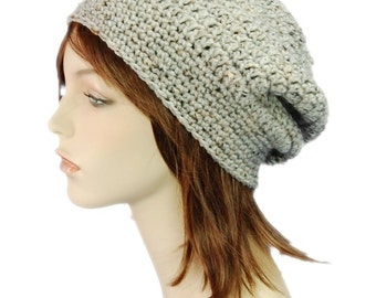 Crochet Pattern, Slouchy Beret Versatile Adult Crochet Slouchy Hat PDF Instant Download