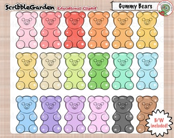 Gummy Bear Counters ClipArt