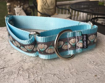 "Missy's Lily Pads -  1.5"" Martingale Collar"