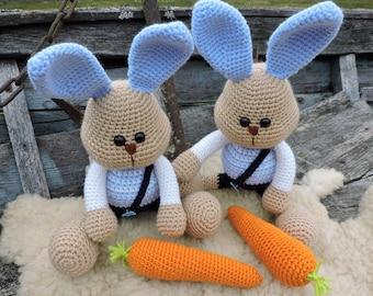Amigurumi Rabbit Tutorial : Amigurumi crochet pattern easter bunny crochet rabbit