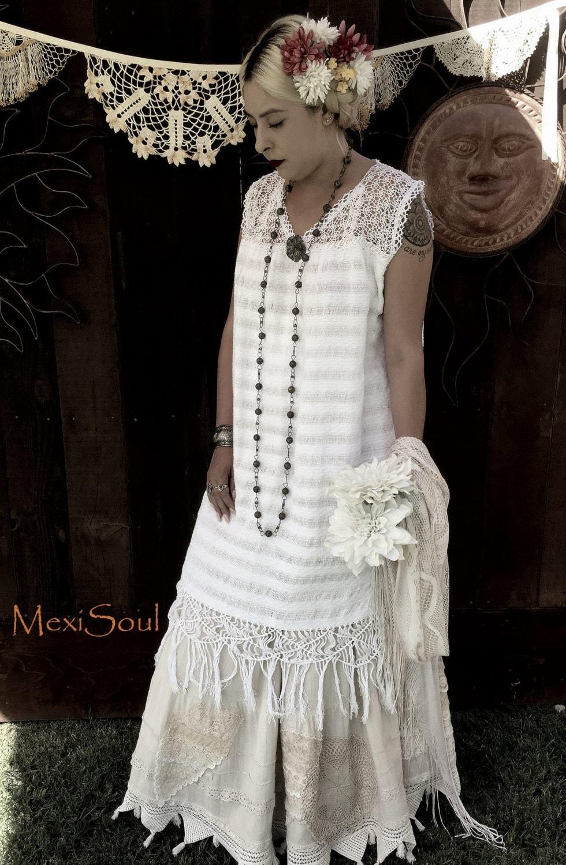 Mexikanische Hochzeitskleid 2pc. Mexikanische Hochzeitskleid