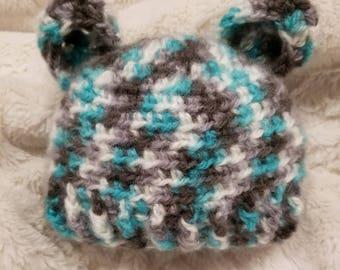 Newborn baby bear beanie