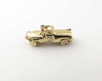 Vintage 14 Karat Yellow Gold Convertible Car Charm #3091