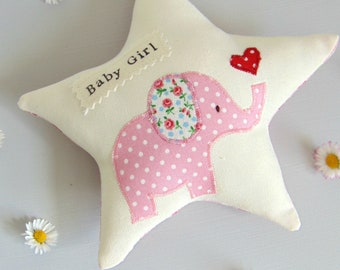 Baby Girl - It's a Girl - Baby gift - Nursery decor - Baby Elephant - Gifts for baby - Newborn - Nursery  - Keepsake - Baby shower - Pink