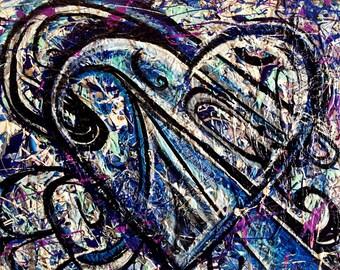 Ice Cream Heart Original Painting