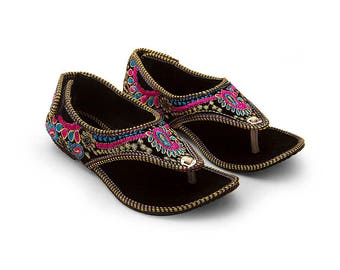 Handmade Embroidered Women's Shoes - Sandals
