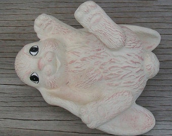 Bunny Playing - Handmade Ceramic