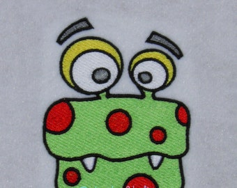 Space, Alien, Monster #8 Embroidery Design, Multiple Formats