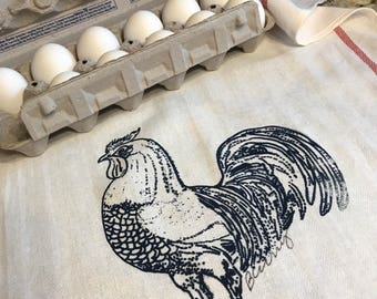 Rooster on a Tea Towel