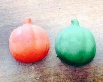 Tiny pumpkin crayons set of two