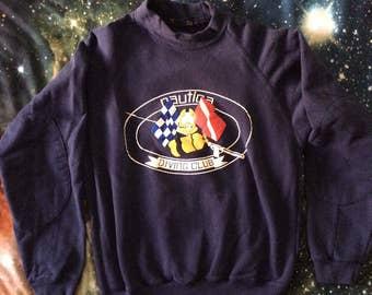 Vintage Nautica Brand Diving Club Elbow Pad Sweatshirt