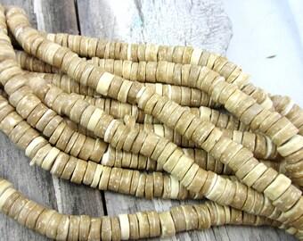 1 Strand Coconut beads natural burlywood beads diy jewelry makinging 9mm x 2mm HP074(F1F8)
