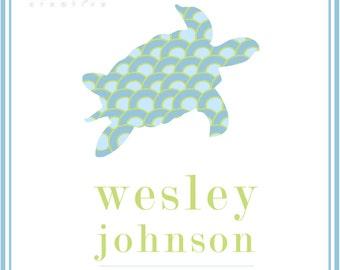 Custom Name Sea Turtle Print
