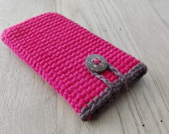 Handmade crocheted phone case/cozy *Basic* for Apple iPhone, Samsung, HTC, Nokia and all other sizes