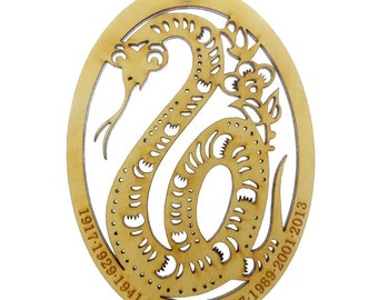 Year of the Snake Ornament - Chinese Zodiac Ornament - Zodiac Sign Ornament - Chinese Astrology Ornament - Zodiac Gift - Chinese New Year