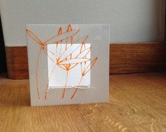 Orange Glass Bamboo