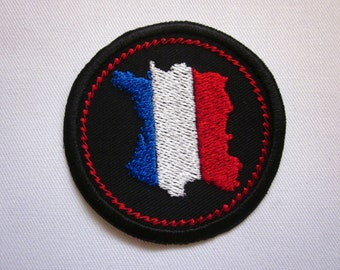 """France Merit Badge  2"""" Iron or Sew On Patch"""