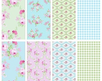 Charlotte BUNDLE by Tanya Whelan from Free Spirit- Charlotte Bundle - Charlotte Fat Quarters Bundle  - 8 Fabrics Each Bundle
