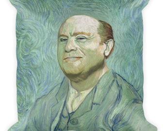 Danny DeVito Van Gogh Print Throw Pillow