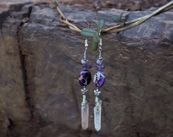 Imperial Purple Earrings