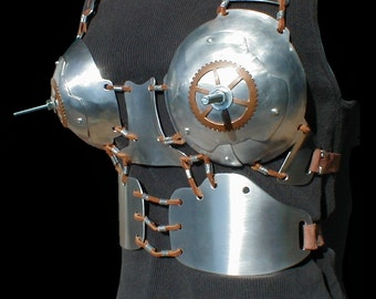 Grinder Bolt Metal Steampunk Bra 15.100