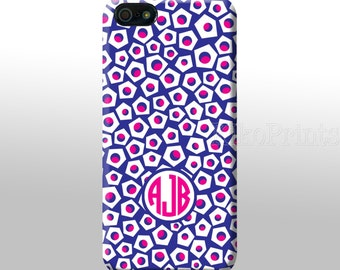 iPhone 6 Galaxy S6 S6 Edge Dots Pentagon Monogrammed iPhone 4/4S 5/5S 5C 6 Galaxy S4 case Personalized phone case