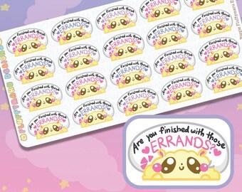 Biggie Fluffymaru Errands || Planner Stickers, Cute Stickers for Erin Condren (ECLP), Filofax, Kikki K, Etc. || BSS25