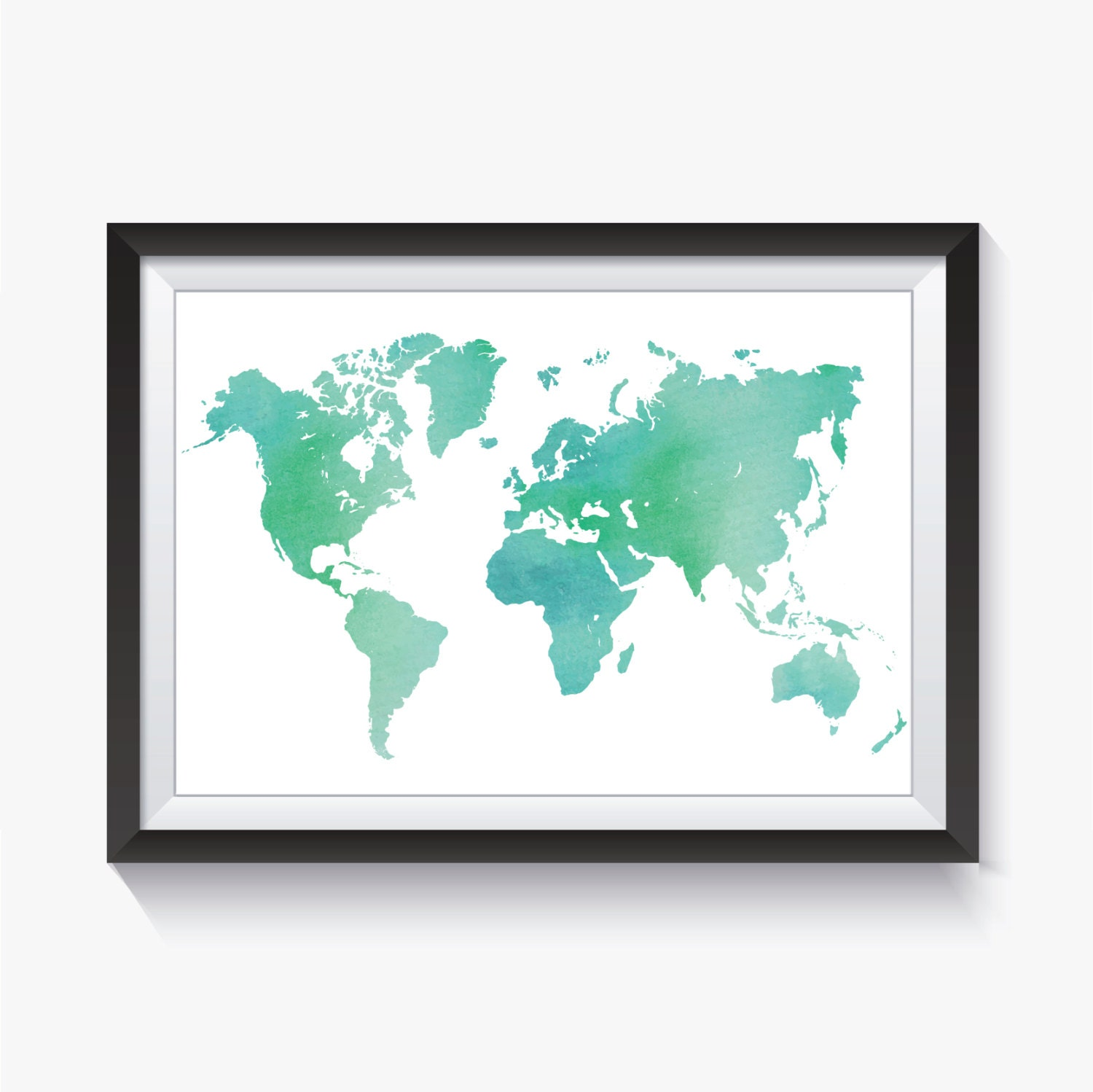 Map world map sea map sea foam green watercolor world zoom gumiabroncs Gallery