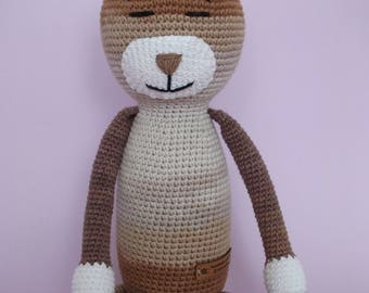 Amigurumi crochet cat - handmade toy