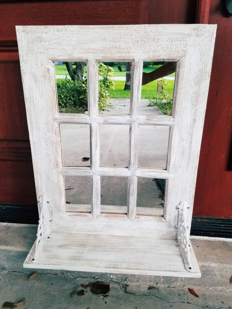 Herbst-Sale Rustikales Bauernhaus Fenster Spiegel /