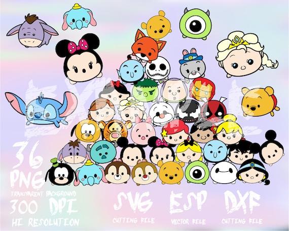 Cómo Dibujar Olaf En La Versión Disney Tsum Tsum: Disney Tsum Tsum Set 36 Clipart SVG PNG 300dpi ESP