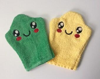 Bath Mitten Washcloth Bathing Hand Puppet