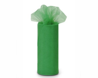 """6 inch x 100 yds """"Import"""" Nylon Tulle Roll - EMERALD-Fall Special only 5.99 roll"""