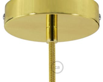 Brass Cylinder Canopy Kit, bracket, screws and cable retainer