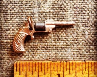 1950s Vintage Moving Charm - Revolver Charm - Bracelet Charm