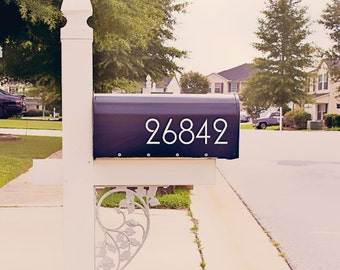 Fancy Mailbox Number Decal, Custom Mailbox Sticker - 003