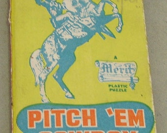 Roy Rogers Pitch 'em Cowboy Puzzle dexterity puzzle 1950's Merit (British)