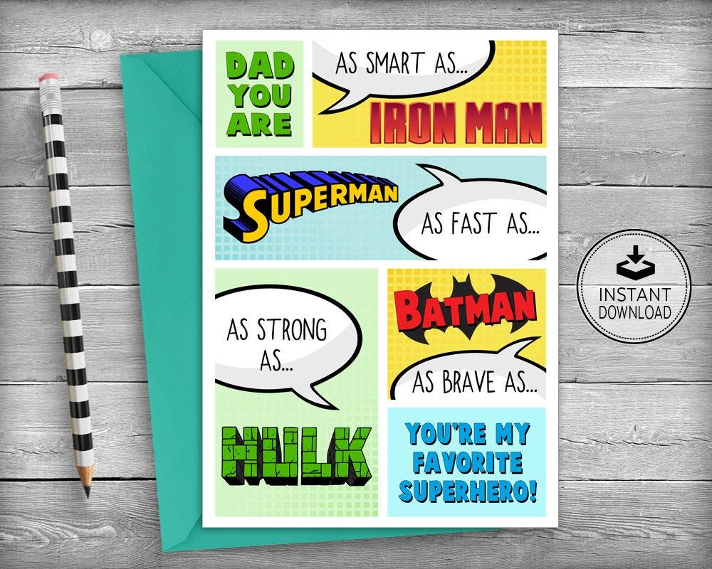Superhero birthday card dad birthday cards father birthday zoom kristyandbryce Image collections