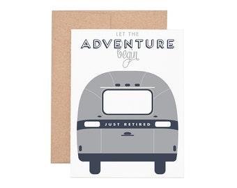 Airstream Retirement Letterpress Greeting Card - Retirement Cards   Greeting Cards   Letterpress Cards