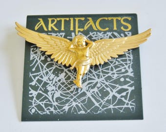 JJ Jonette Gorgeous Winged Cherub Angel Tac Pin