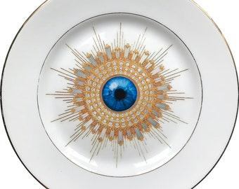 Firenze Burst - Eye - Vintage Porcelain Plate - Limoges - #0599