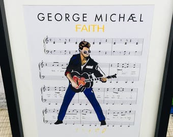 George michael faith art